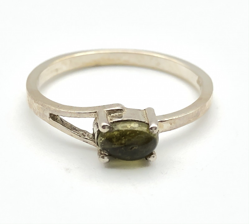 8.07 Crt Natural Tourmaline 925 Silver Ring ( RK-5 )