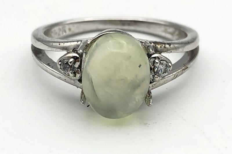 14.22 Crt Natural Perlite 925 Silver Ring ( RK-5 )