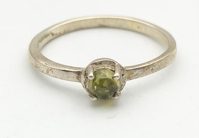 7.32 Crt Natural Tourmaline 925 Silver Ring ( RK-5 )