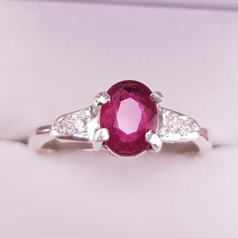 Natural Rubellite beautiful Ring