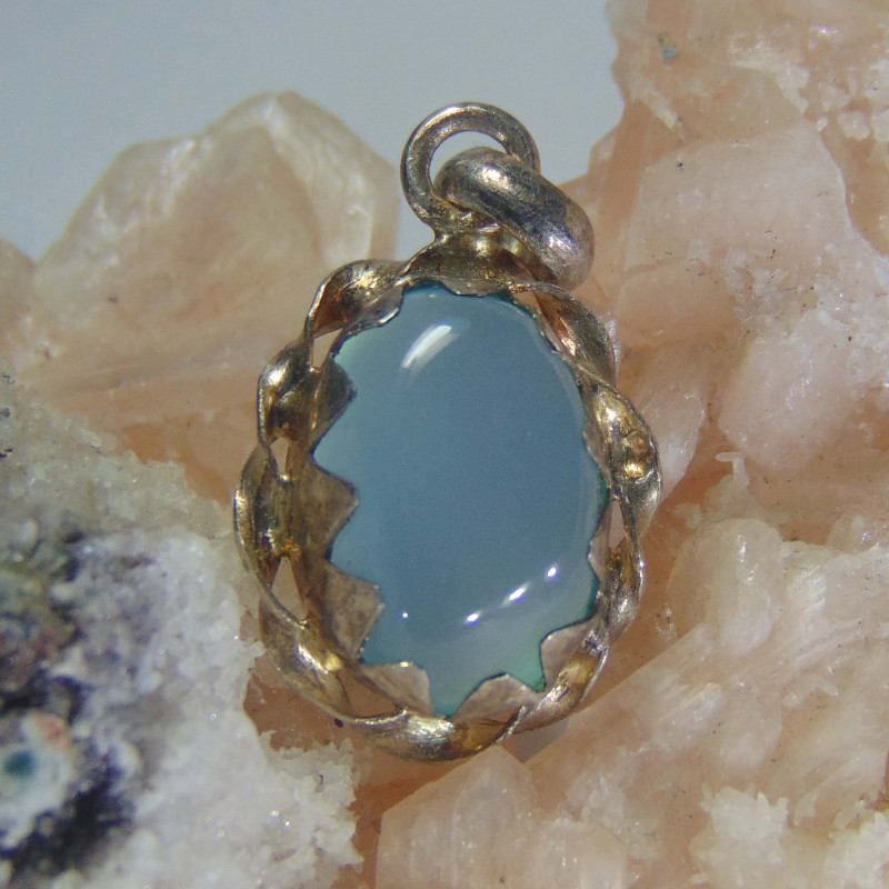 Agate pendent ~ antique stone~ fantasy silver designs 13.30cts