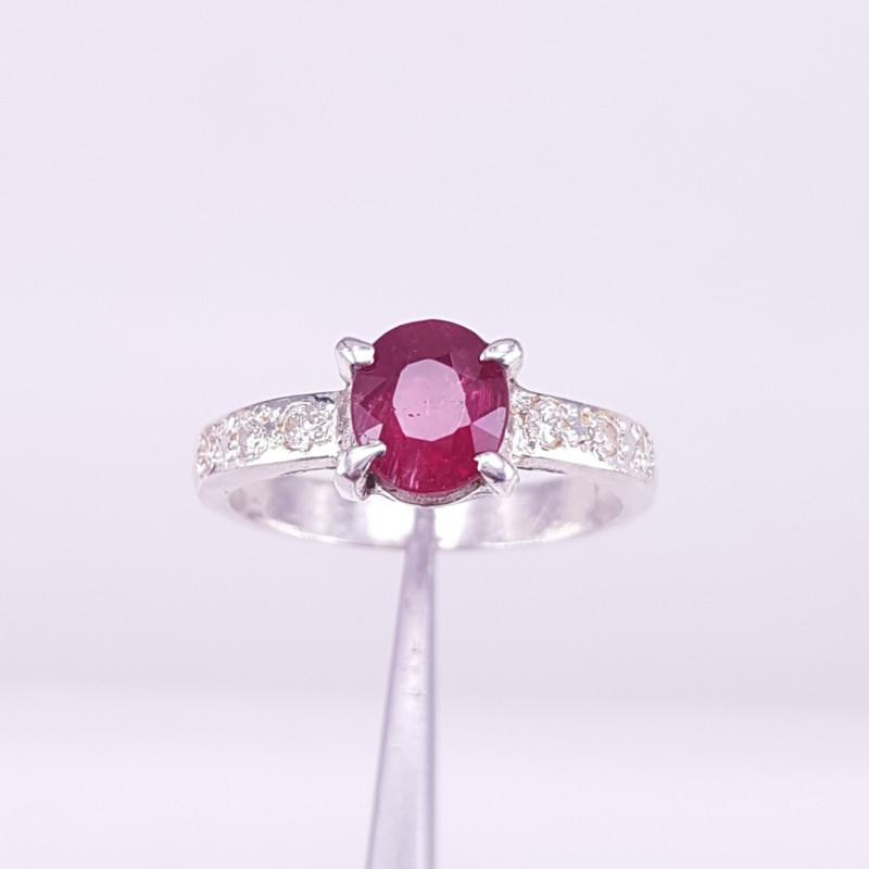 Natural Rubellite Tourmaline Ring.
