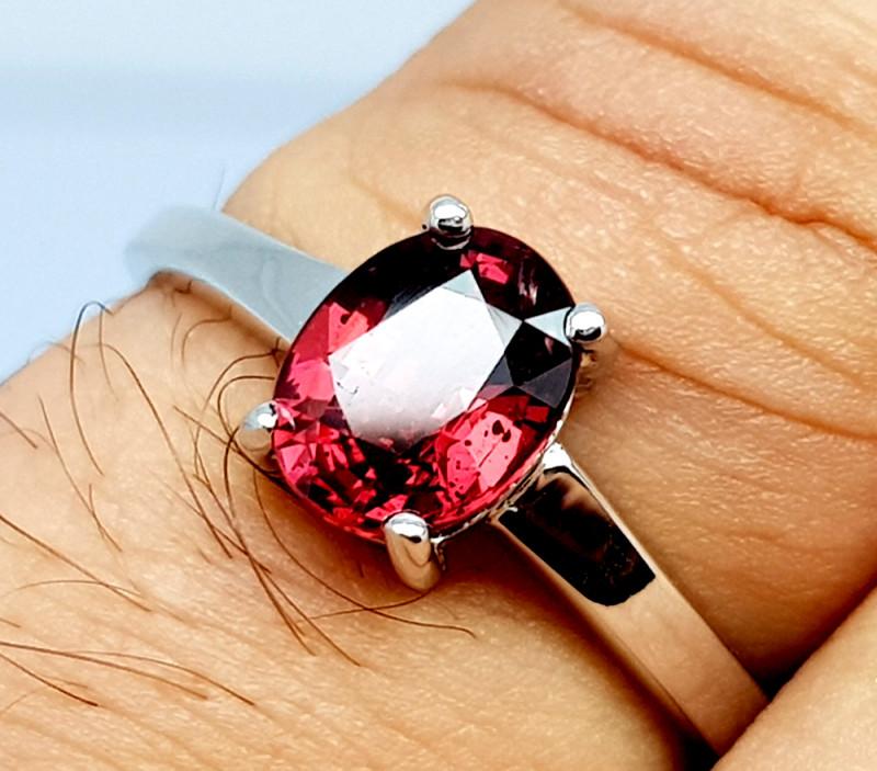 Natural Beautiful Rhodolite Garnet 925 Sterling Silver Ring (NJT64)