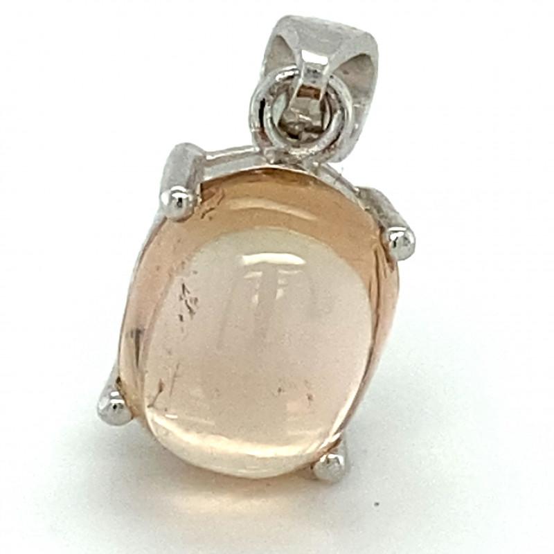 Tourmaline 6.64ct Solid 925 Sterling Silver Rhodium Pendant
