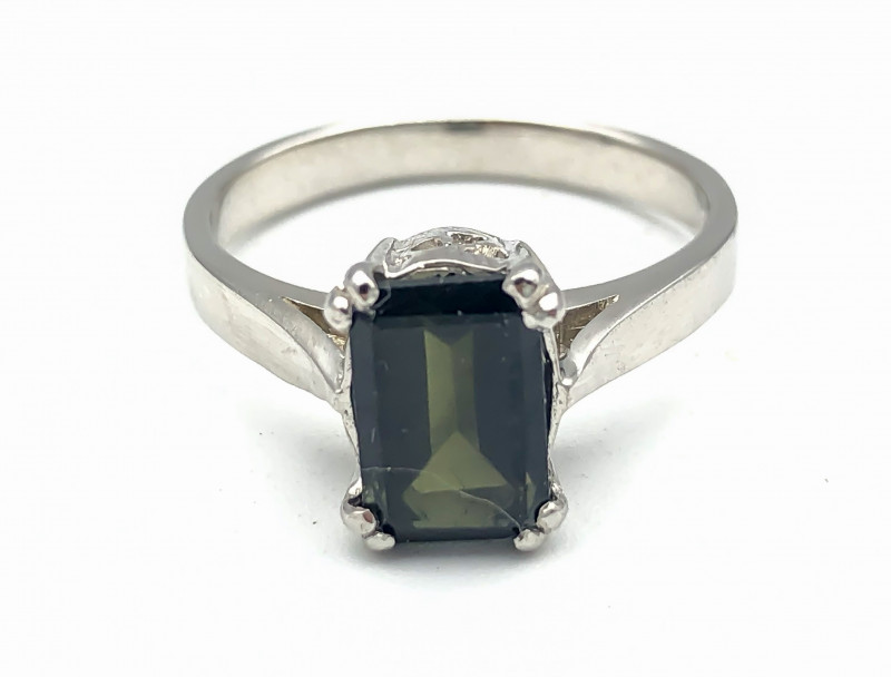 14.49 Crt Natural Tourmaline 925 Silver Ring