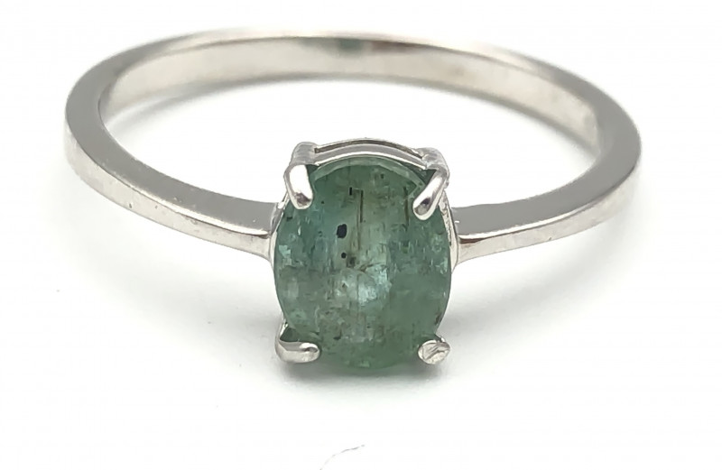 8.19 Crt Natural Emerald 925 Silver Ring