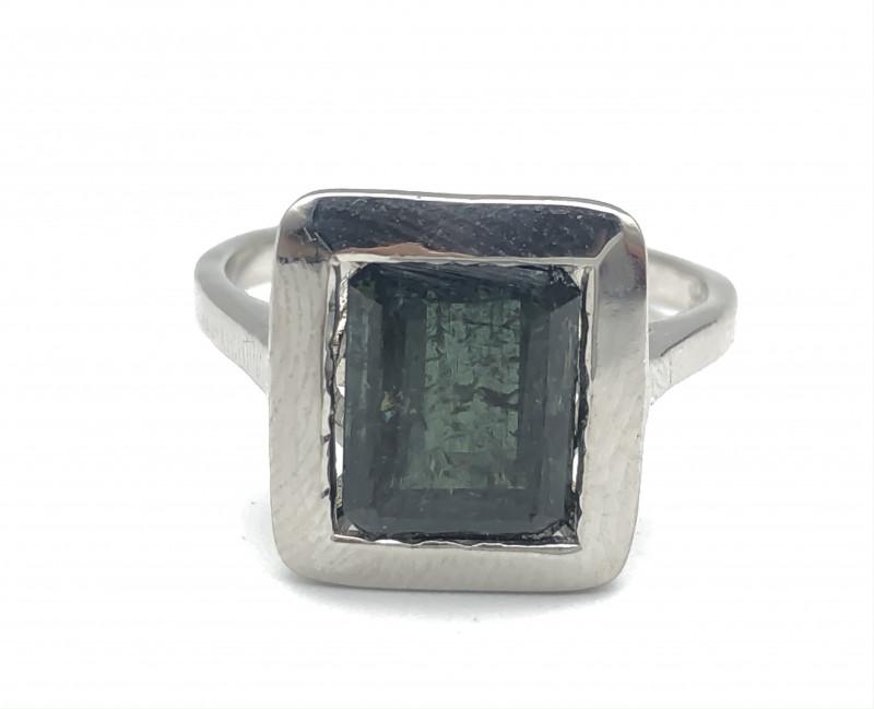 17.66 Crt Natural Tourmaline 925 Silver Ring