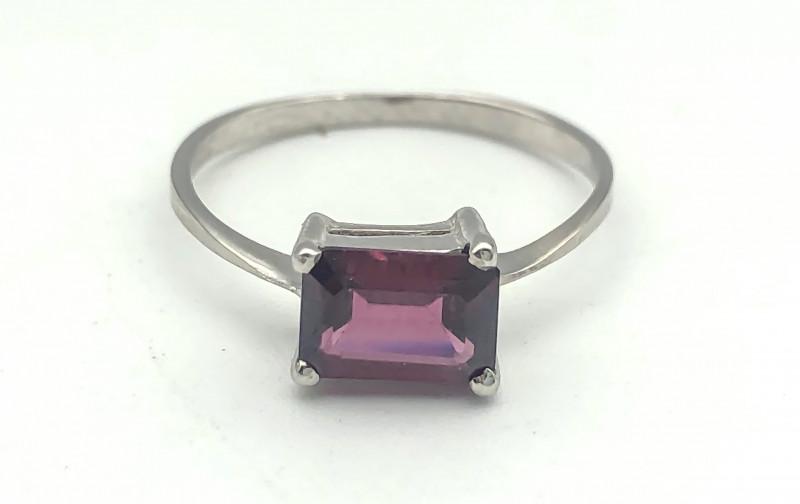 6.11 Crt Natural Rhodolite Garnet 925 Silver Ring