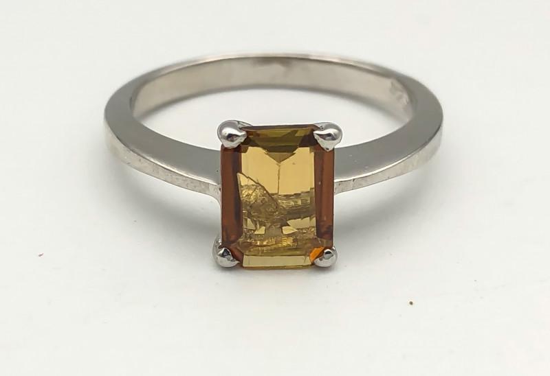 12.90 Crt Natural Tourmaline 925 Silver Ring