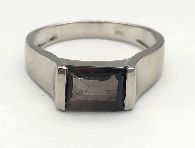 16.69 Crt Natural Tourmaline 925 Silver Ring