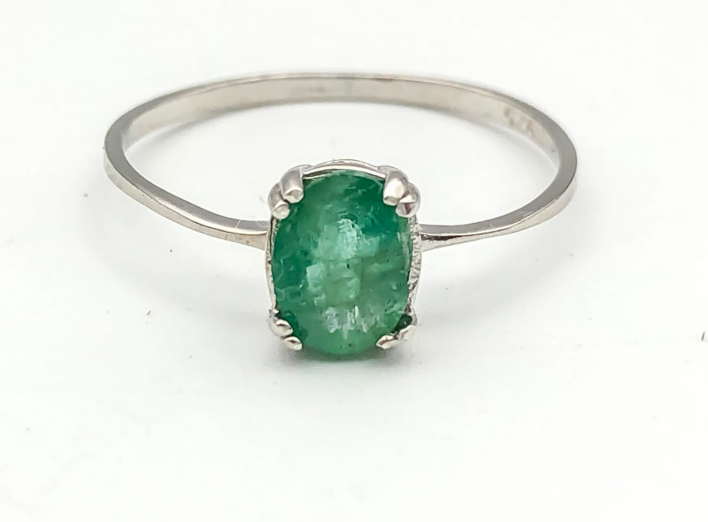 4.84 Crt Natural Emerald 925 Silver Ring