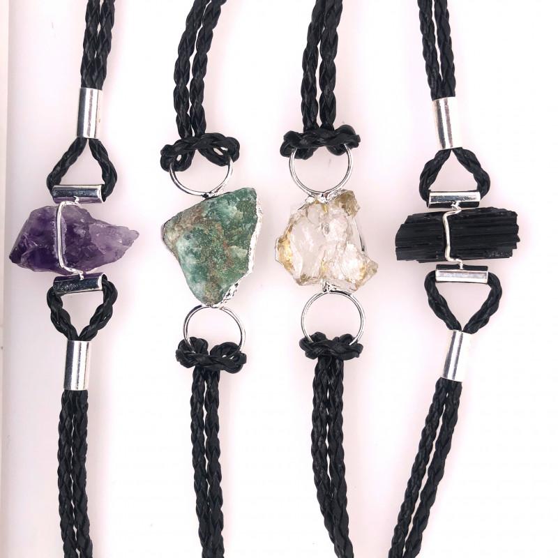 4 x Raw Rock Gemstones Bracelet - BR 951