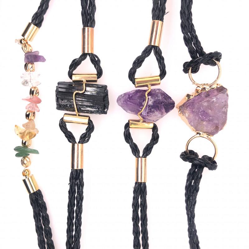 4 x Raw Rock Gemstones Bracelet - BR 955