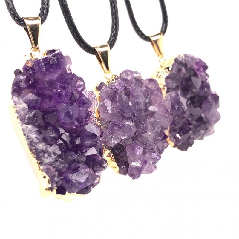 3 Amethyst Druze  Cluster  Gemstone  ,  BR 2235