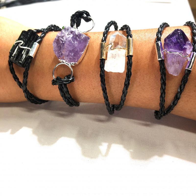 4 x Raw Rock Gemstones Bracelet - BR 983