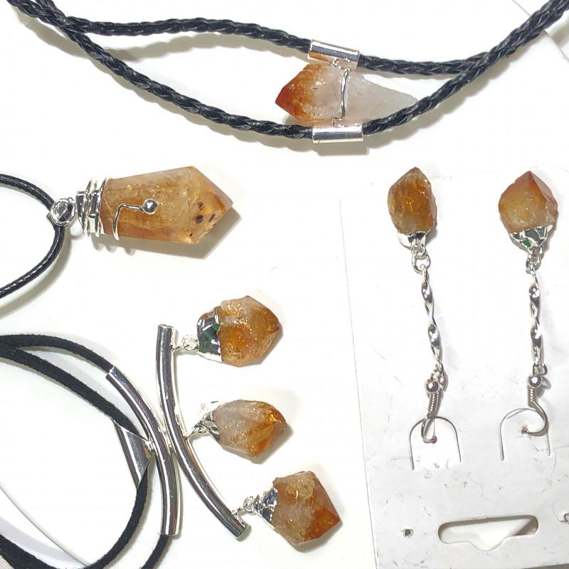 Citrine Lovers Four Piece Jewelry Set - BR 997