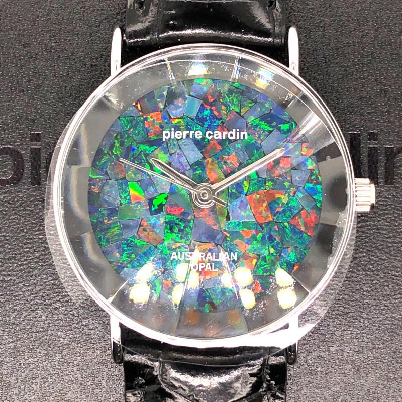 Original Silver Pyramid Opal Watch Mosiac Opal - WO 36