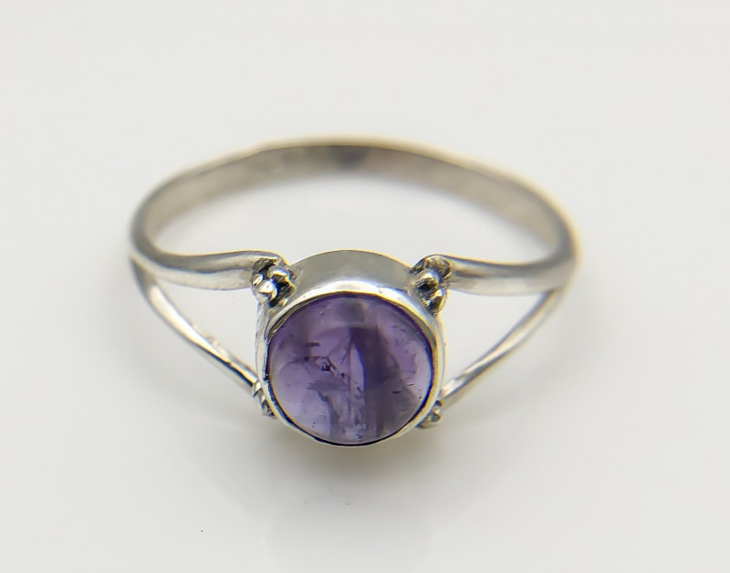 6.23 Crt Natural Amethyst 925 Silver Ring