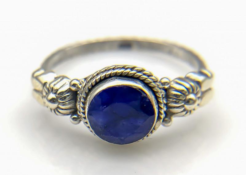 12.11 Crt Natural Lapis Lazuli 925 Silver Ring