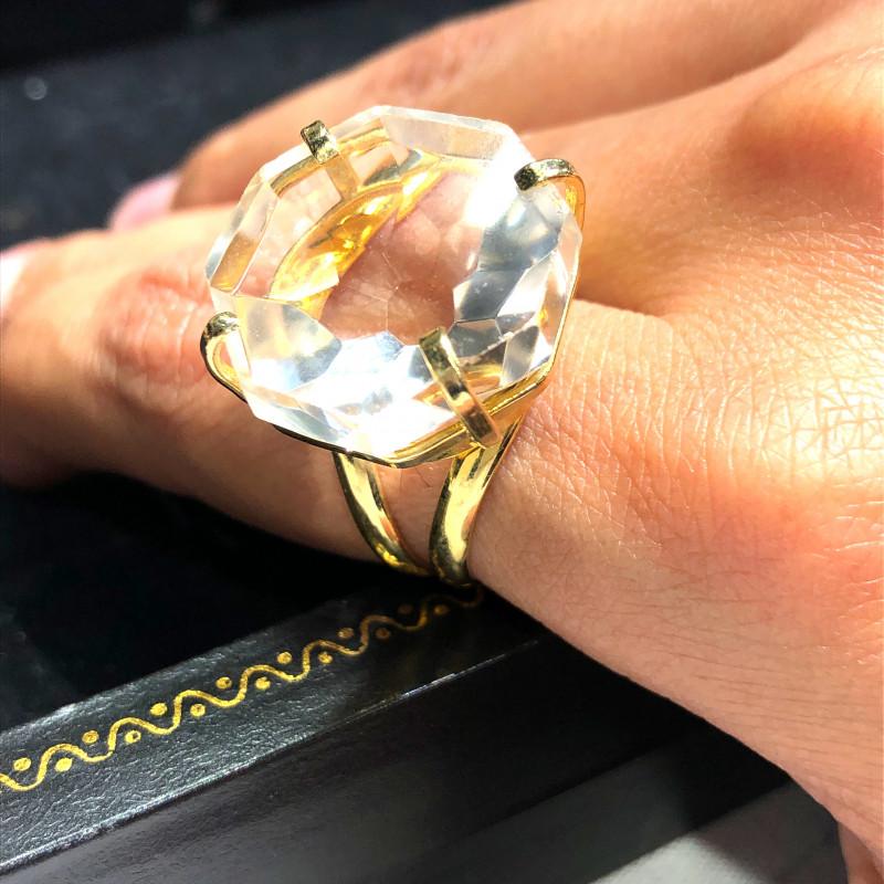 Stunning Fashion Quartz Brazilian ring BR 2450