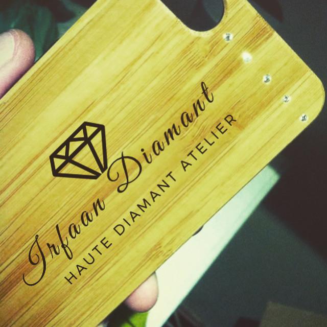 Wood and Diamond Phone Covers