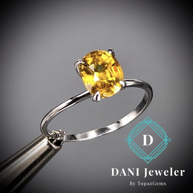 Sphene  925 Silver Ring  by DANI Jewellery