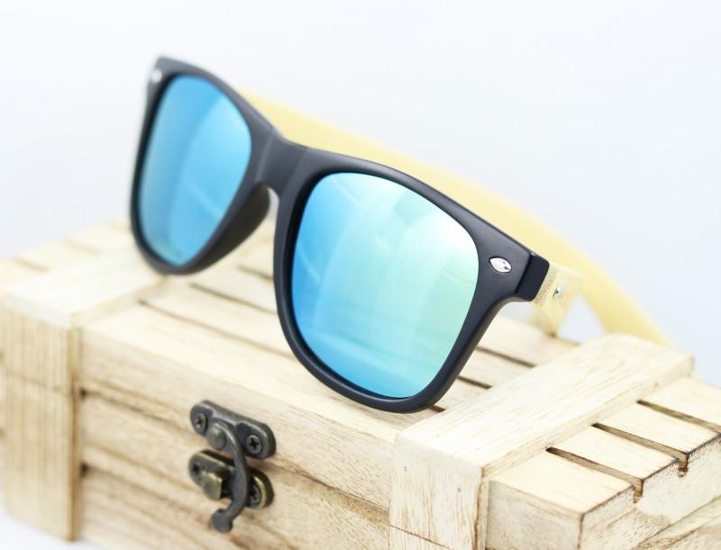 Square Vintage Wood Eyewear GREEN - Sunglasses - SUN 13