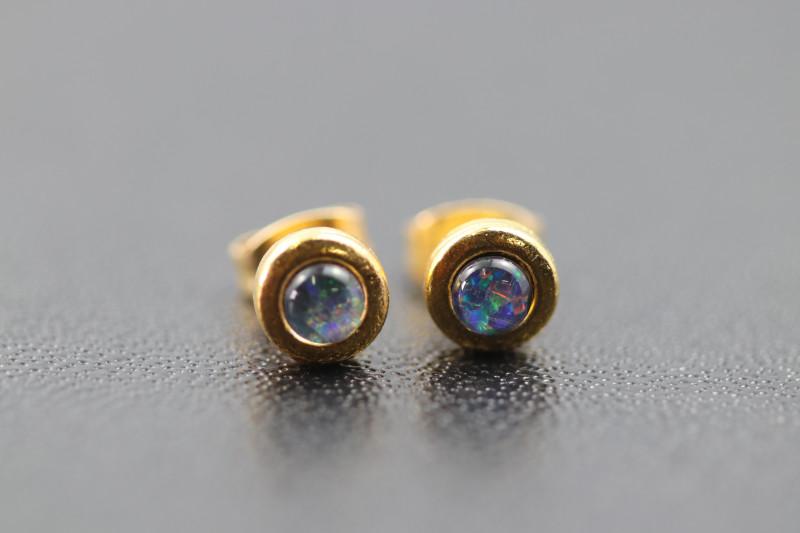 Australian  Opal Triplet Earrings  OPJ 2555