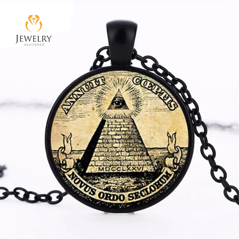 symbol masonic illuminati antique print Pendant   OPJ2622