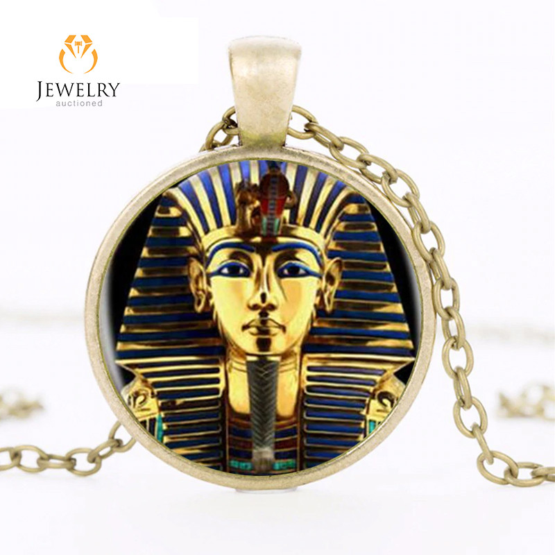 King Tut Logo Pendant Necklace Tutankhamun Golden Kin  OPJ2651