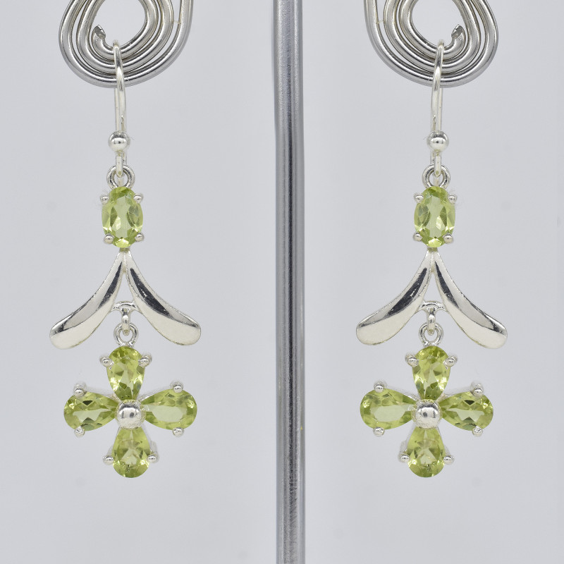 PERIODT EARRINGS 925 STERLING SILVER NATURAL GEMSTONE JE318