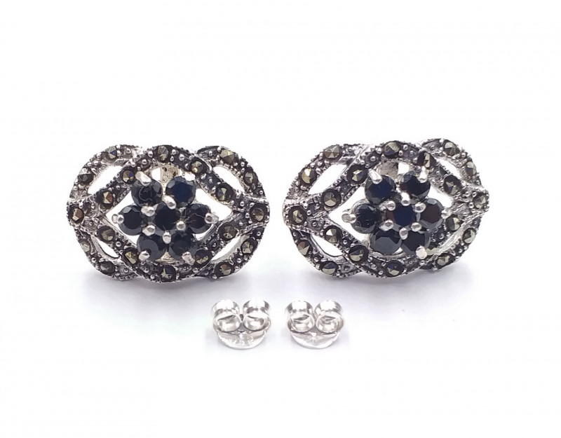 NATURAL SAPPHIRE 925 SILVER EARRING  21