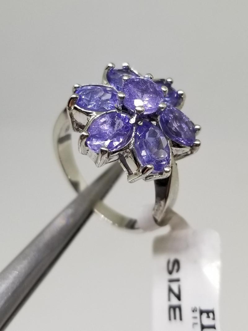 Natural Tanzanite Silver 925 Ring
