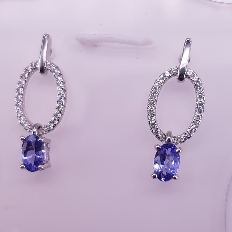 Natural Tanzanite Earrings.