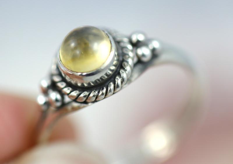 Natural Citrine   Silver Ring size 7- BU 2608