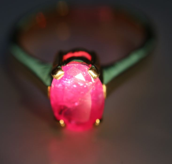 Tajik Ruby 2.45ct Solid 18K Yellow Gold Solitaire Ring     Size 7.50