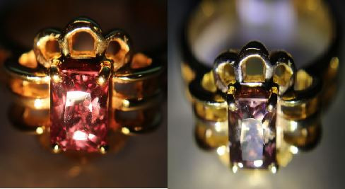 Color Change Garnet 1.67ct Solid 18K Yellow Gold Solitaire Ring, Garnet is