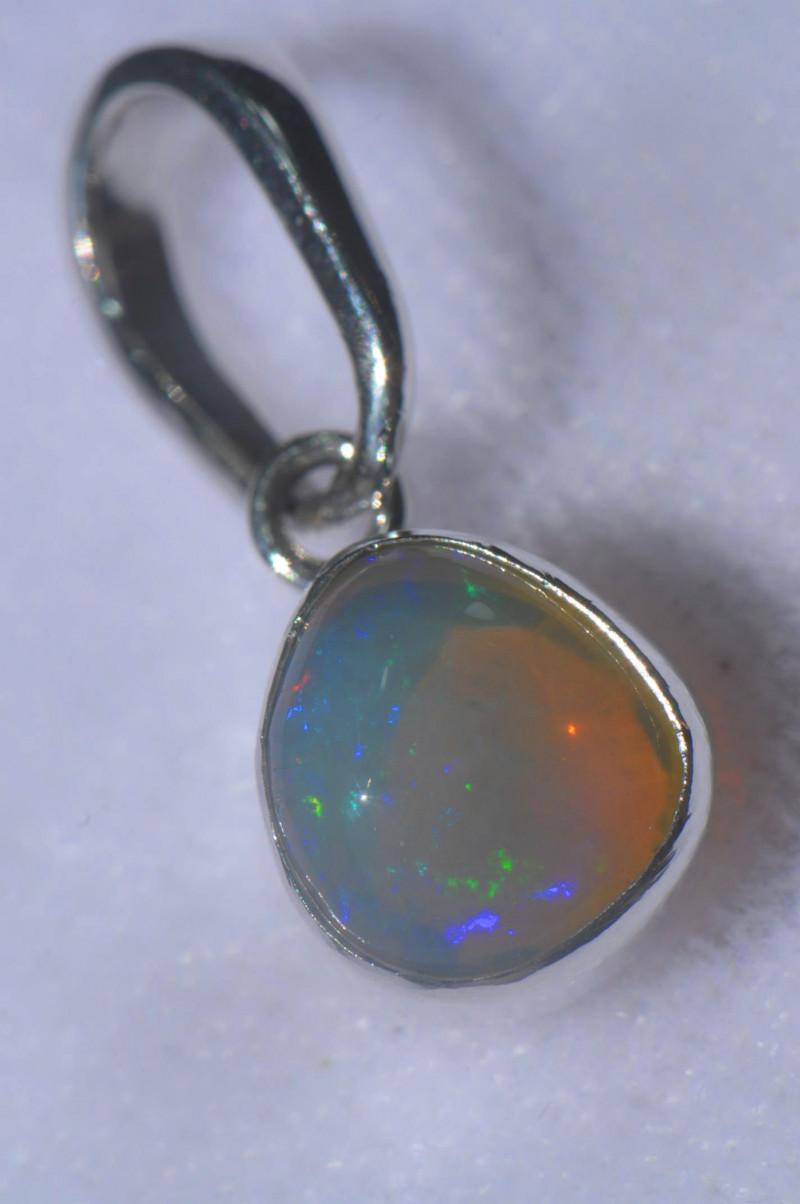 10.45ct .925 Sterling Ethiopian Welo Solid Opal Pendant