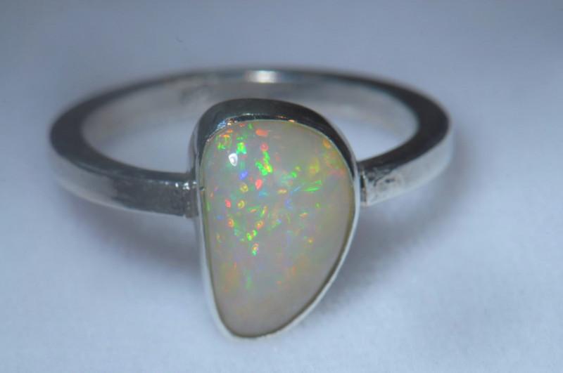 10sz .925 Sterling Ethiopian Welo Solid Opal Ring