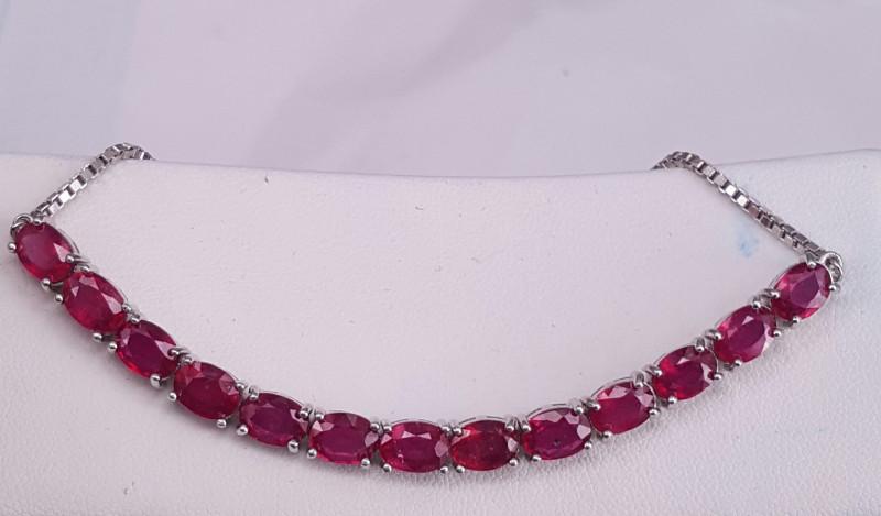 Glass Filled Ruby Bracelet