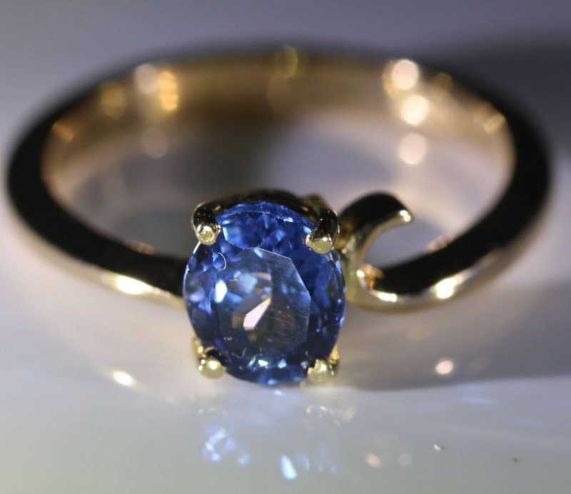 Tanzanite 1.17ct Solid 18K Yellow Gold Ring
