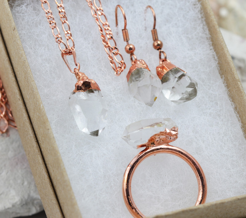 4 Piece Crystal Jewelry set $99 for $19.00 - Ring Size T -
