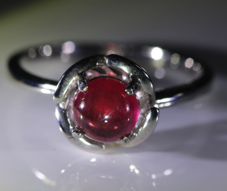 Ruby 3.40ct Platinum Finish Solid 925 Sterling Silver Ring