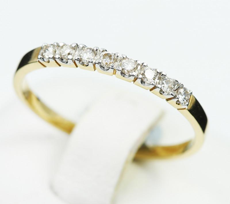 18 K Yellow Gold Engagement Diamond Ring Size 6.75 - H49 - R7498 -1