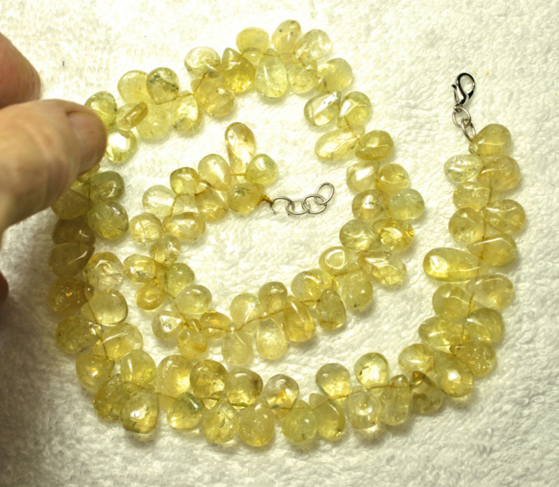 392.5 Total Carat Weight Natural Citrine Necklace - Gorgeous