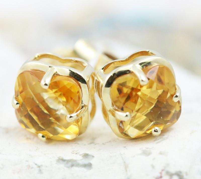 14 KW Gold Citrine Earrings - E3991 - G17