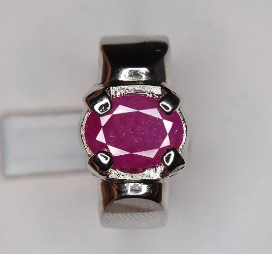 Stunning Unheated Ruby Ring