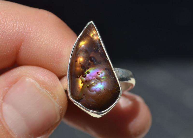 Tumbled gemstone ring Fire agate Gemstone Ring Ring Crystal Healing Copper ring Orange Gemstone Ring Electroformed ring
