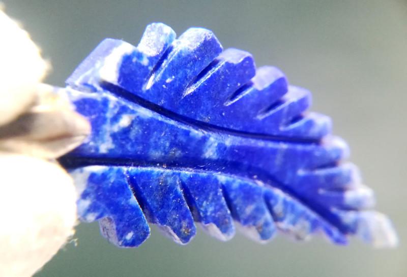 Natural Blue Lapis Lazuli Wing Silver Pendant