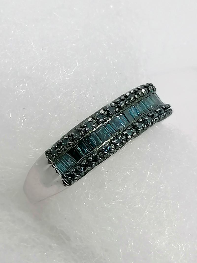 Blue Diamond Ring 0.50 TCW